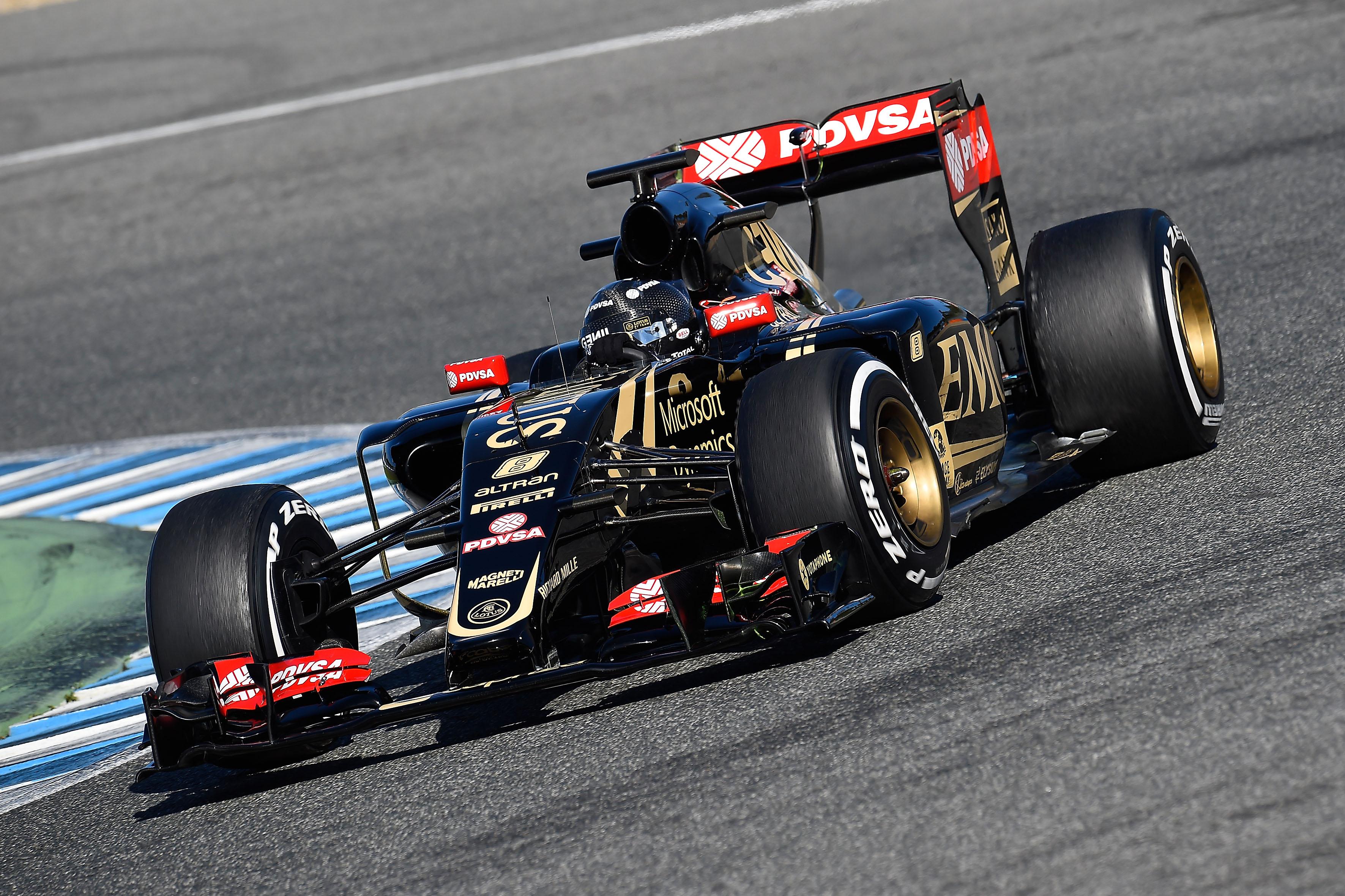 Test F1: 3 su 4 per la Lotus, oggi con Grosjean