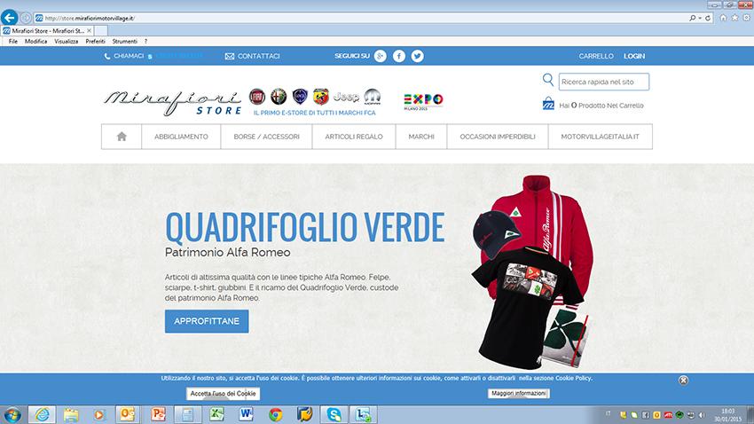 Mirafiori Store: al via lo shopping online