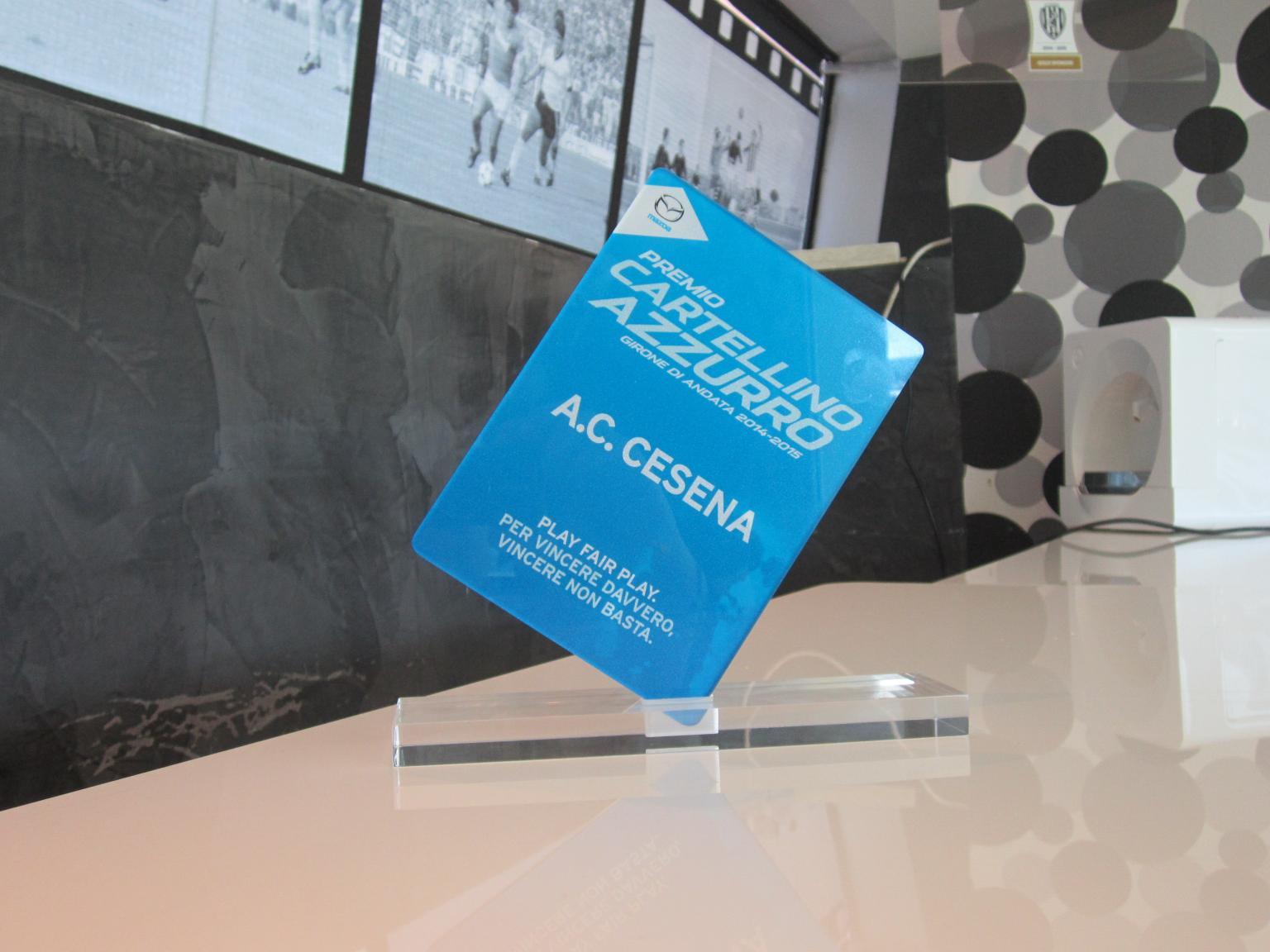 Al Cesena il primo Cartellino Azzurro Mazda