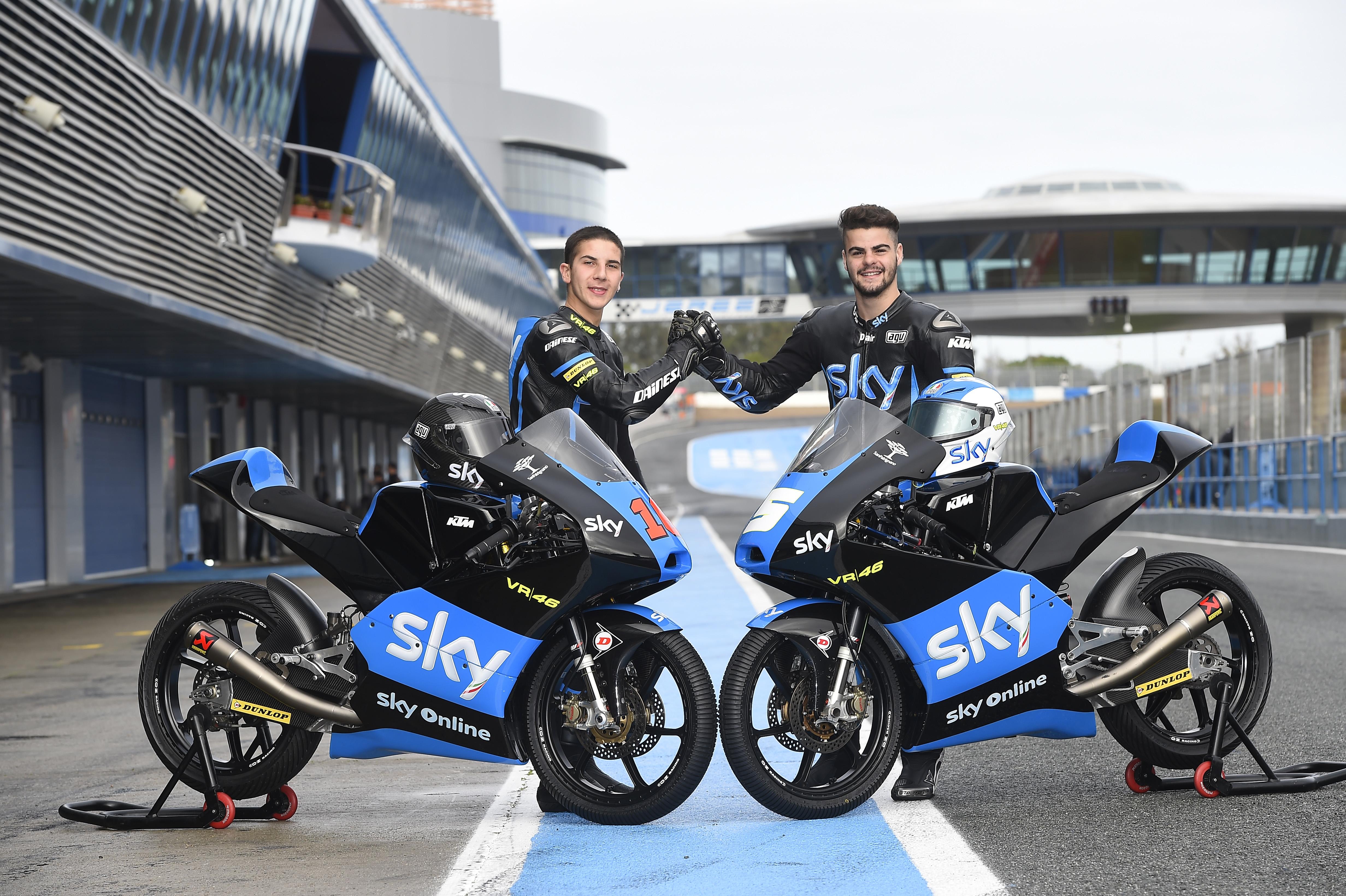 Sky Racing Team VR46: test ok per Fenati e Migno