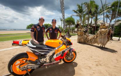 La Repsol Honda di Marquez e Pedrosa si svela a Bali