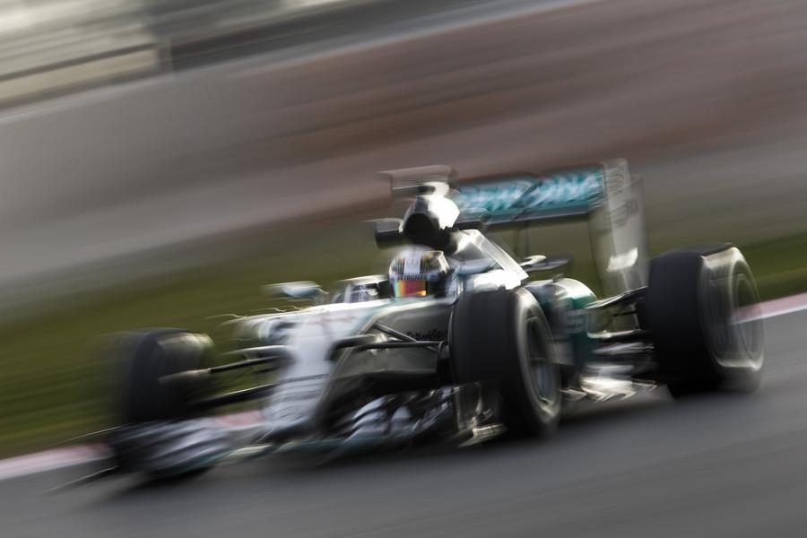 Test F1: la Mercedes monta le soft e vola