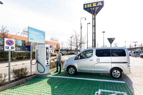 CHAdeMO: Nissan elettrizza IKEA
