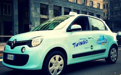 Nuova Twingo invade Milano e Roma con #GuidaTu