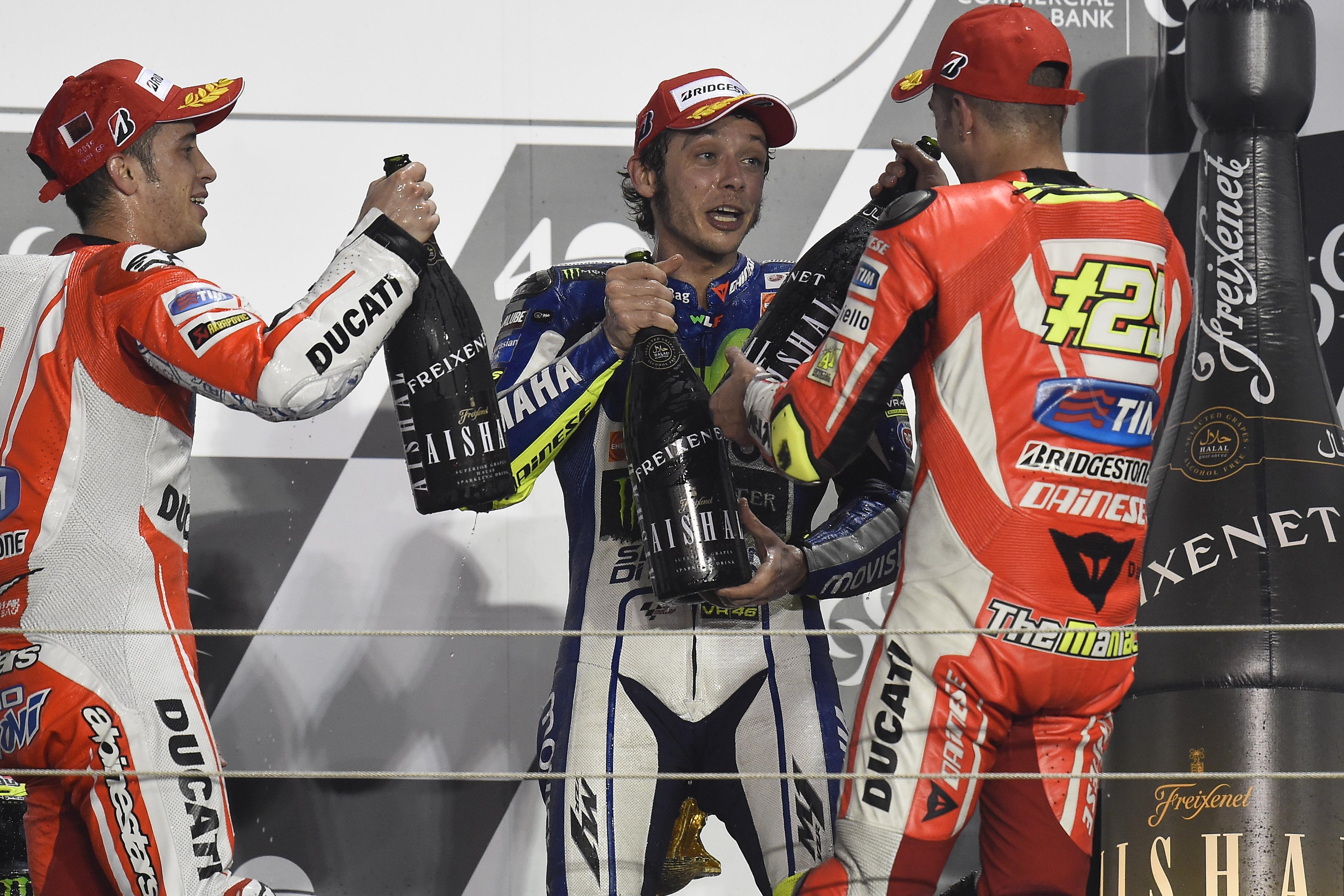 Qatar: trionfo italiano, con Rossi e le Ducati