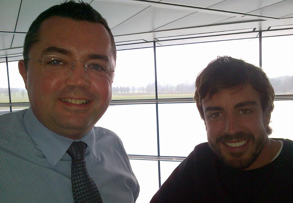 Alonso a Woking, domani al simulatore