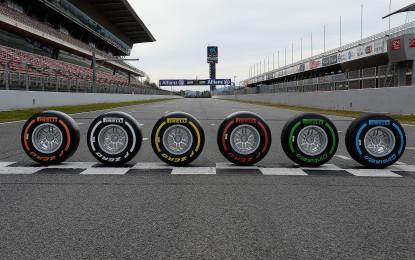 F1: gli pneumatici per i primi quattro GP 2015
