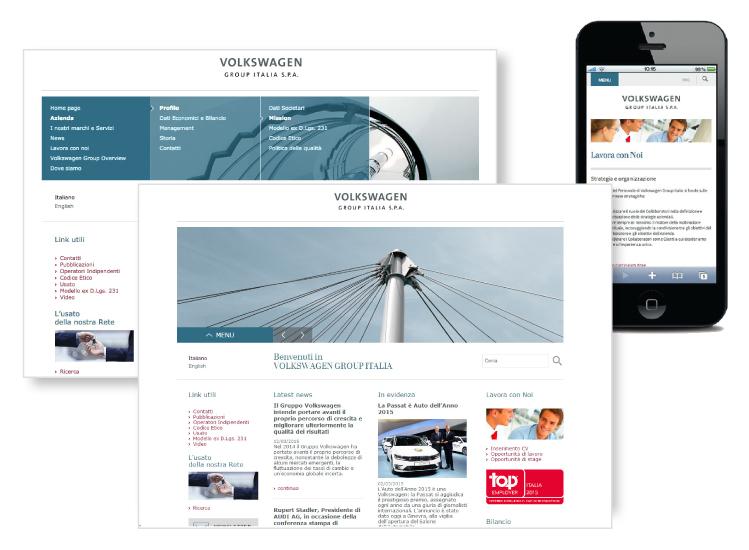 Tutto nuovo il sito volkswagengroup.it