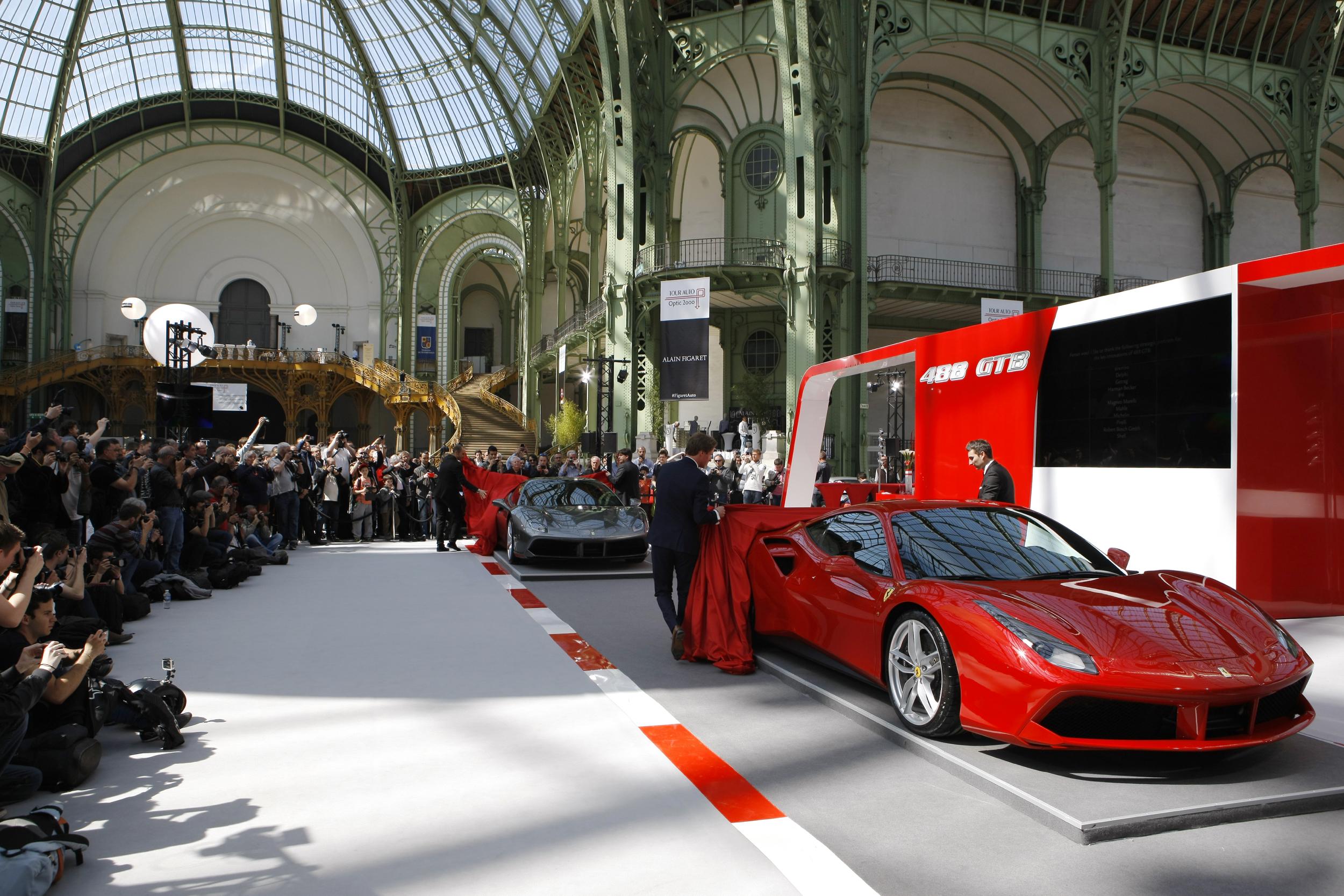 Ferrari 488 GTB star al Grand Palais