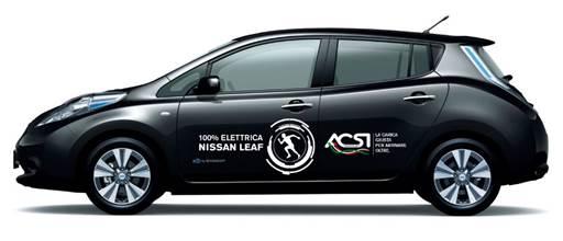 Nissan LEAF 100% elettrica per Appia Run