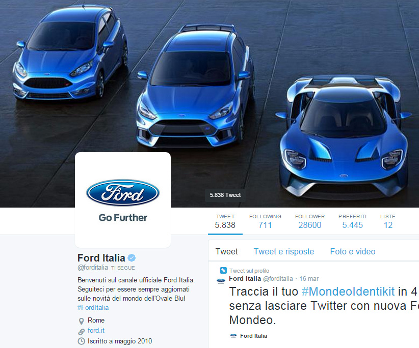 Ford: panel al Salone del Mobile in diretta su Periscope