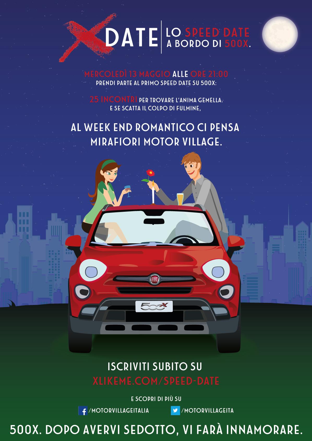 """X-date night"": single protagonisti al Mirafiori Motor Village"