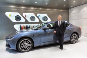 Maserati Shanghai Auto Show 2015_ Harald Wester_ Maserati CEO_besides the Ghibli Ermenegildo Zegna Edition
