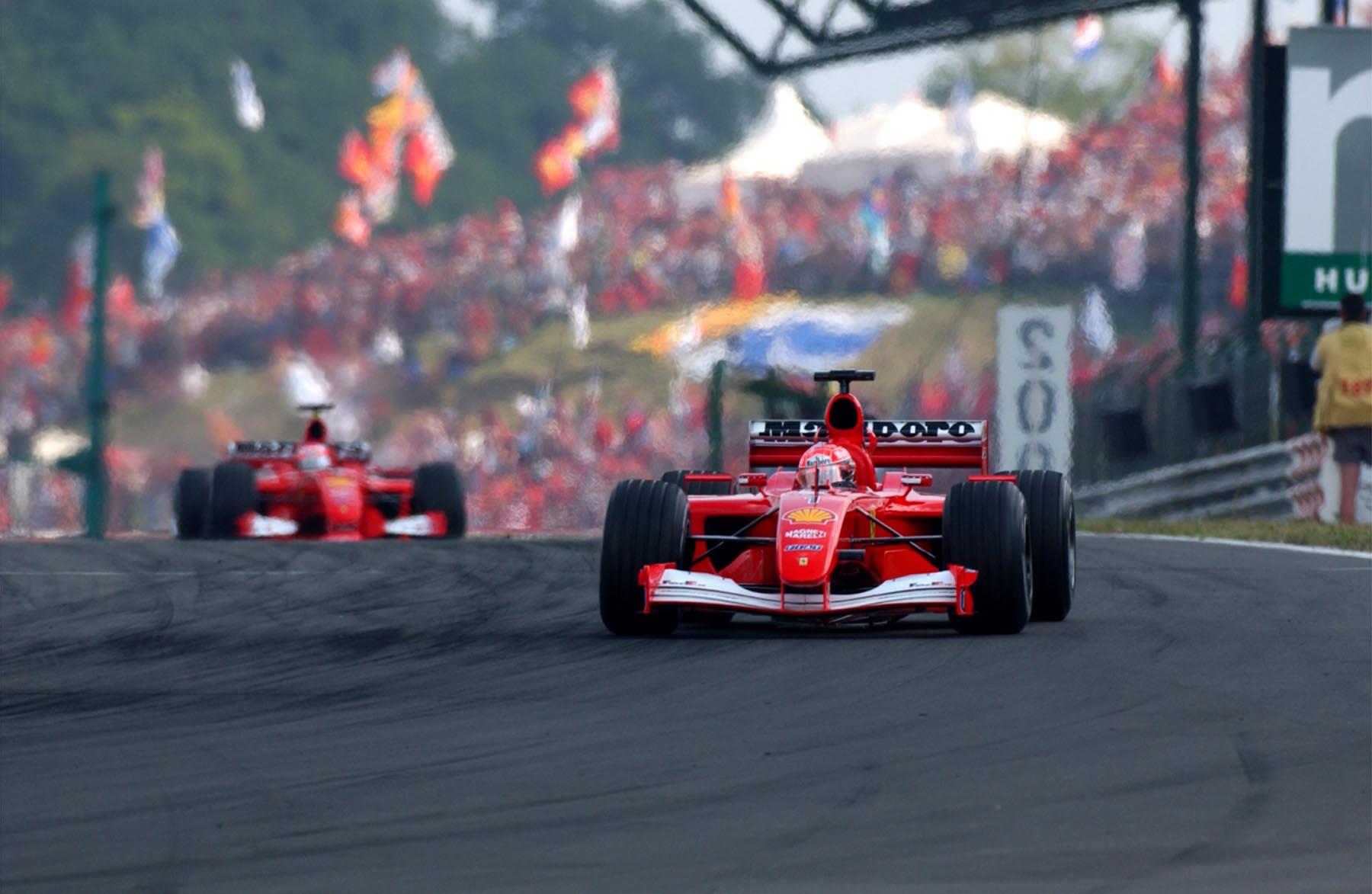 Gutiérrez prova la F2001 di Schumi