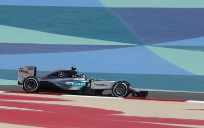 Bahrain: libere 2 alla Mercedes, ma che passo la Ferrari!