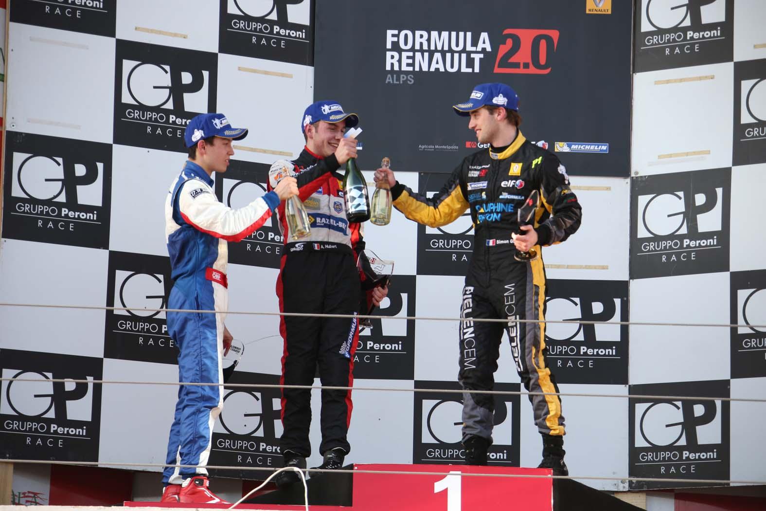 F. Renault 2.0: pole e vittoria di Hubert in Gara 1