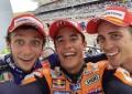 MotoGP: Marquez, Dovi e Vale, selfie da Campioni