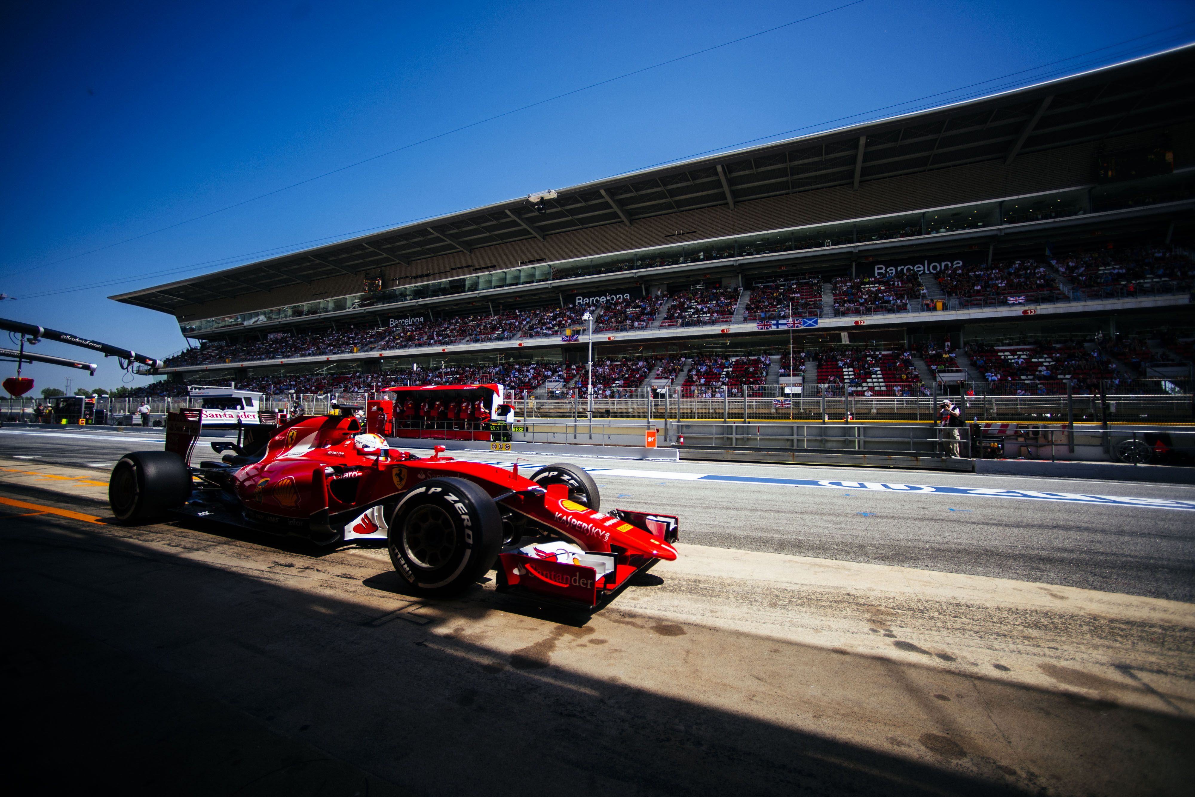 Spagna: Ferrari 3° e 7° in qualifica