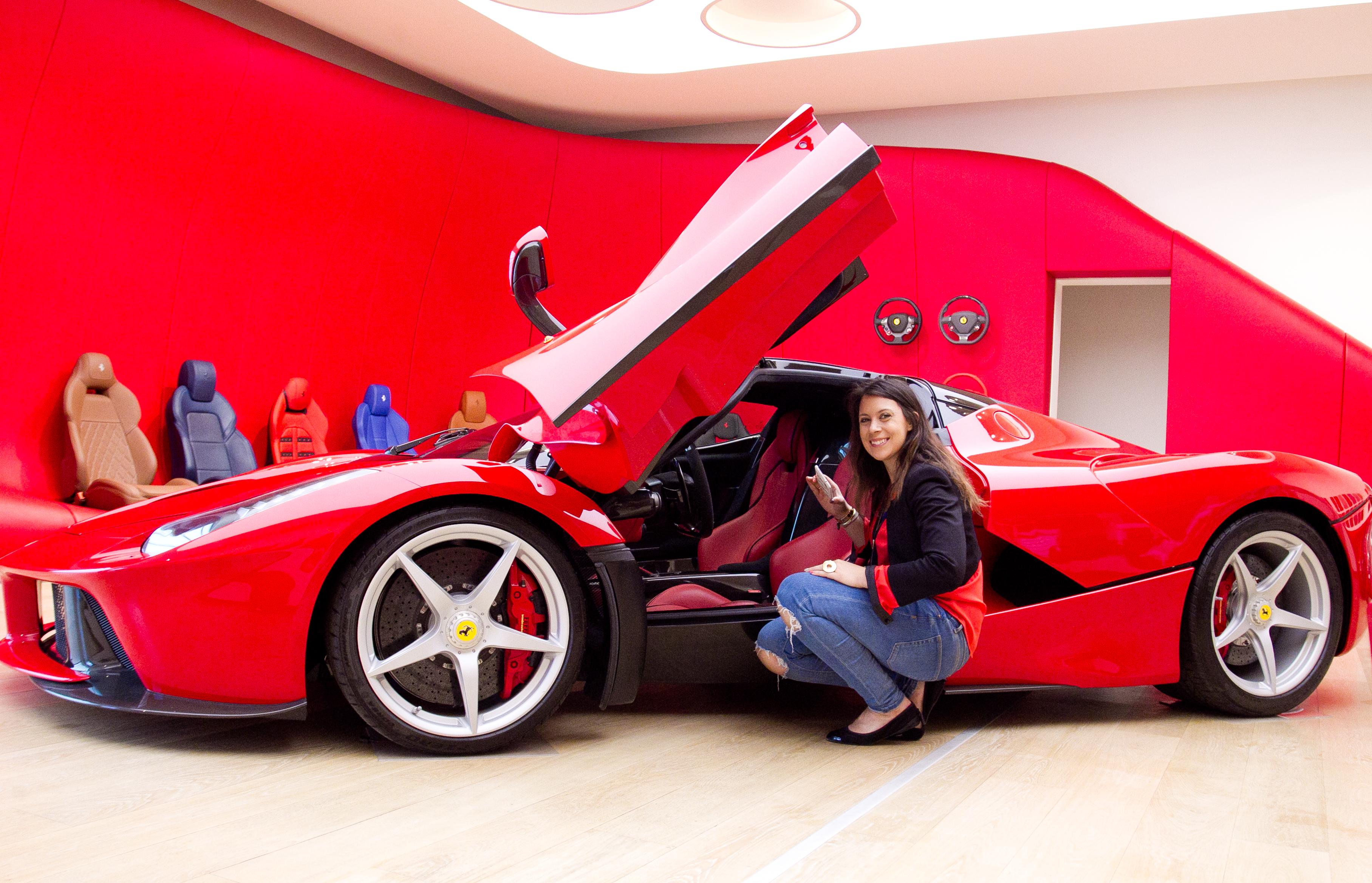 Marion Bartoli in visita a Maranello