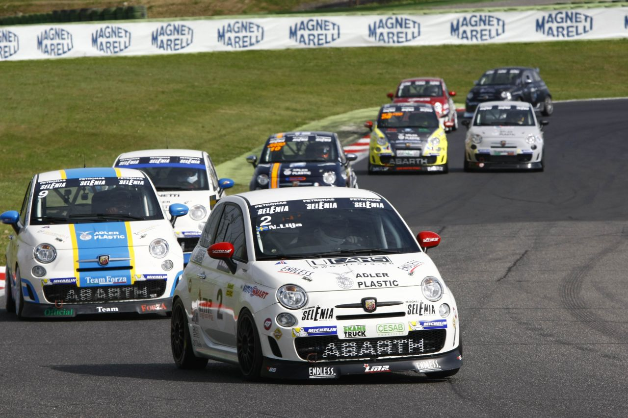 A Vallelunga si conclude il weekend Abarth