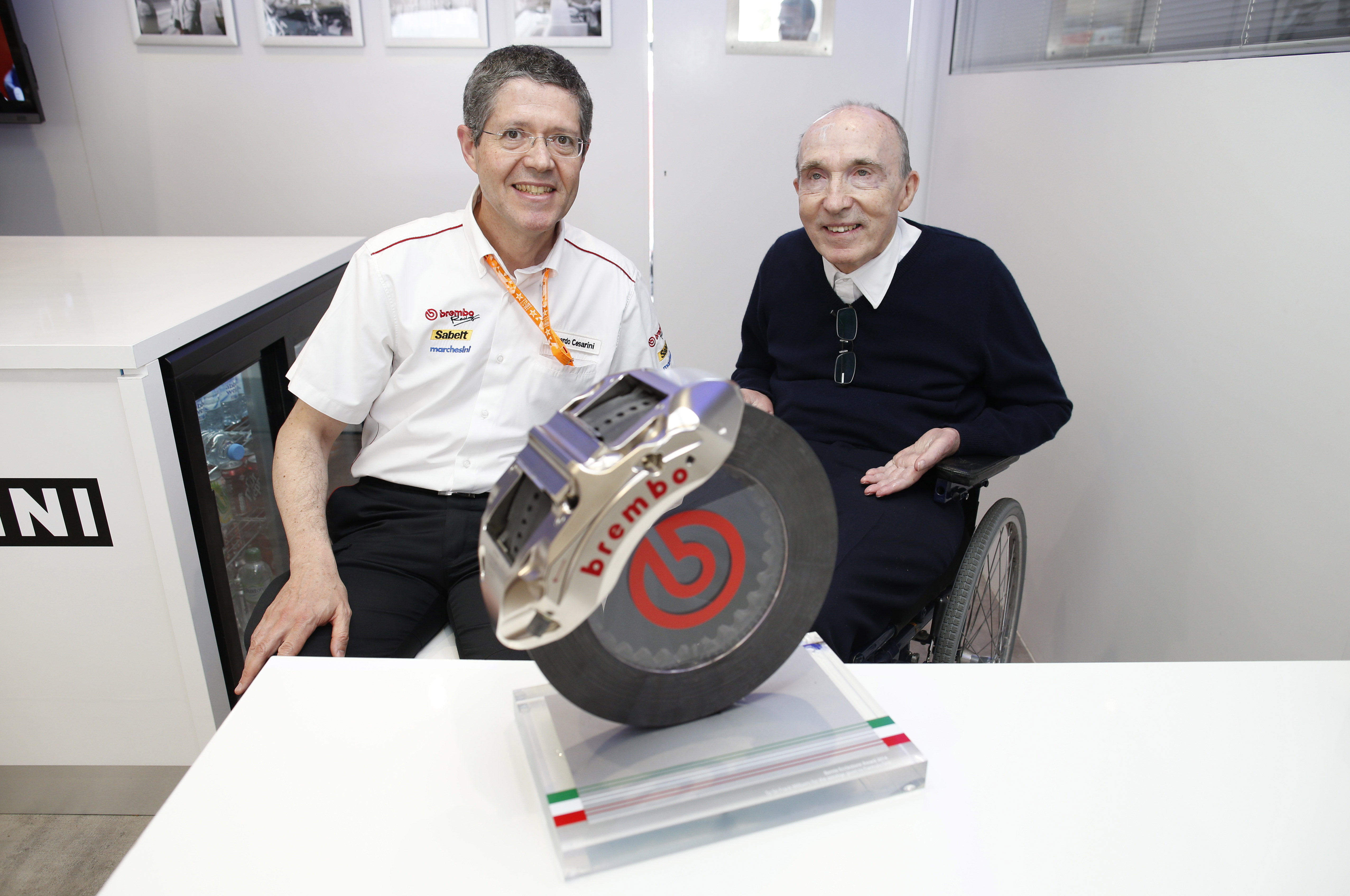 Brembo 'Bernie Ecclestone Award' a Frank Williams