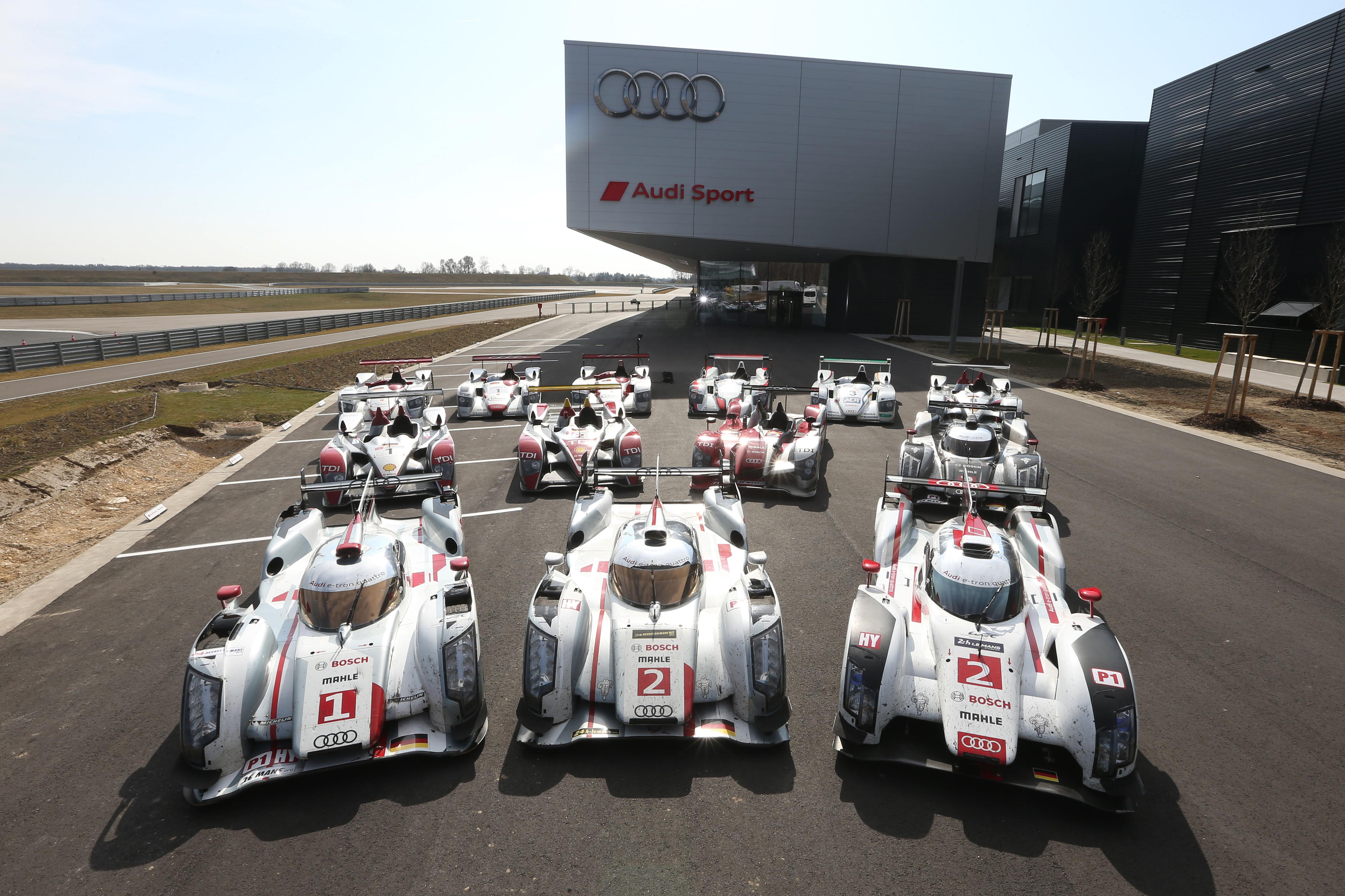 Audi: insieme per la prima volta 13 vincitrici di Le Mans