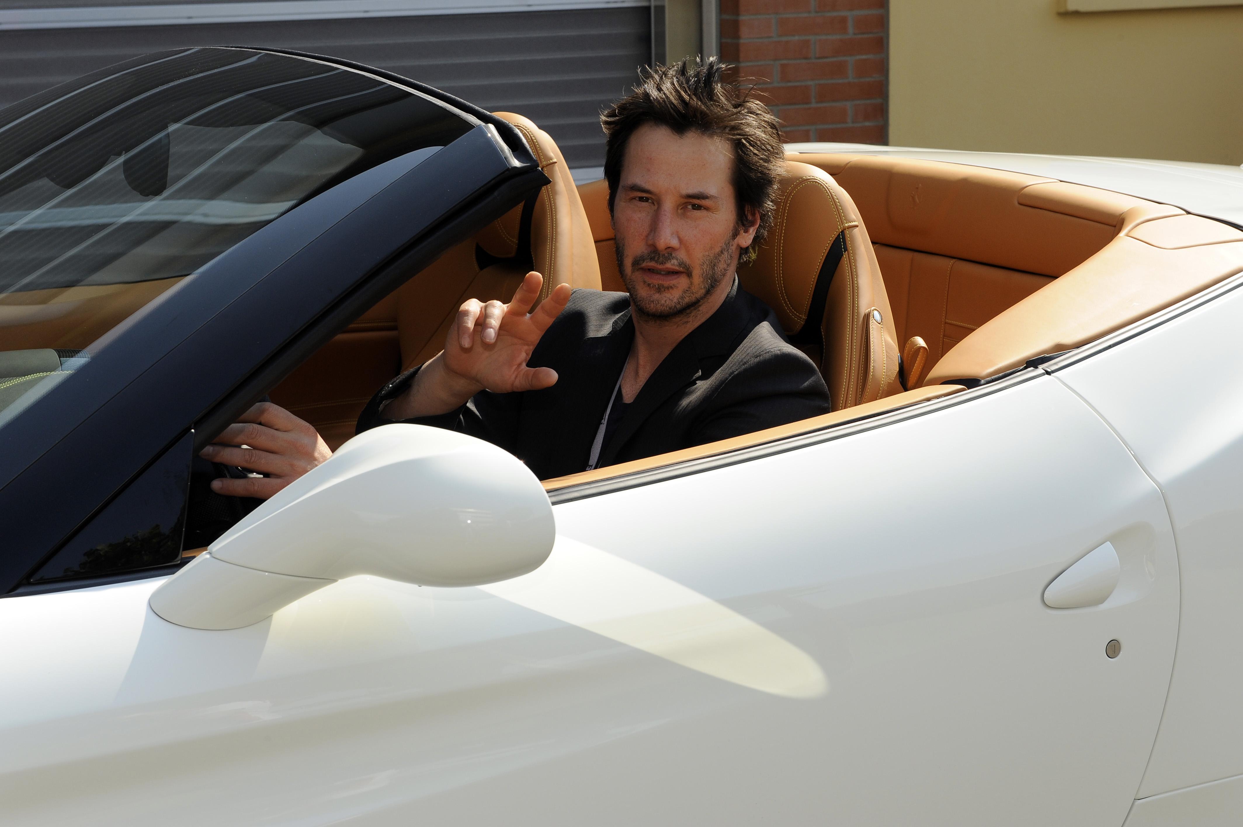 Keanu Reeves in visita a Maranello