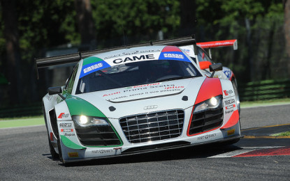 Imola: primo podio stagionale Audi R8