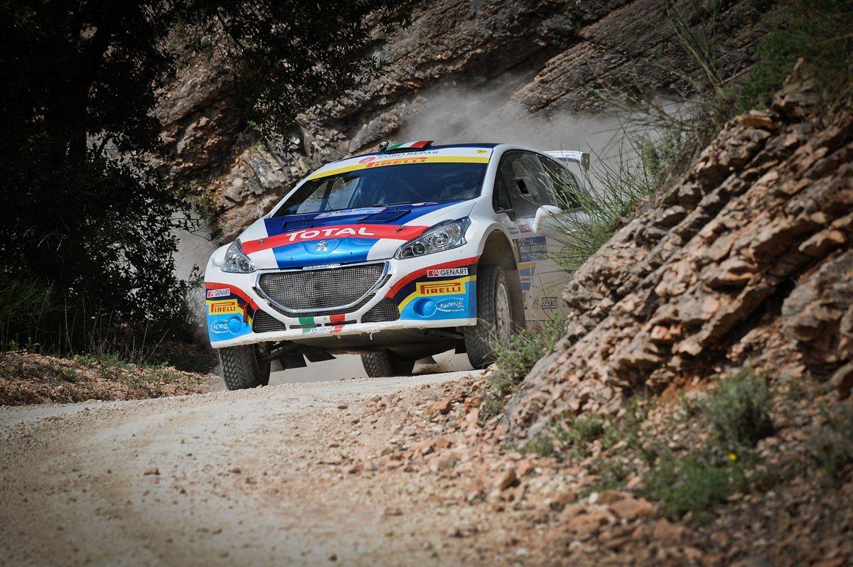 Andreucci e la 208 T16 Tricolore all'attacco del WRC