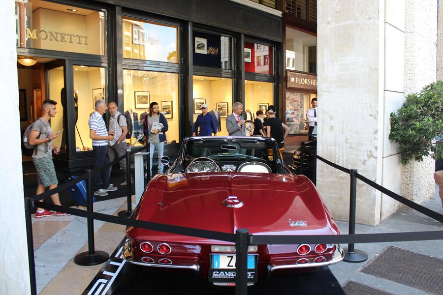 Corvette ed Eddy Monetti a Milano Moda Uomo