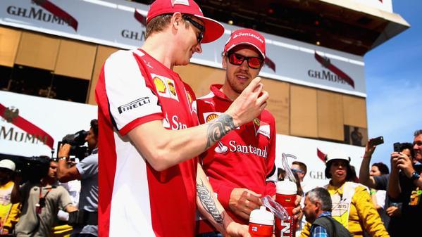 Vettel vuole che Kimi resti in Ferrari