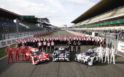 Le Mans: test ok per le tre Porsche 919 Hybrid