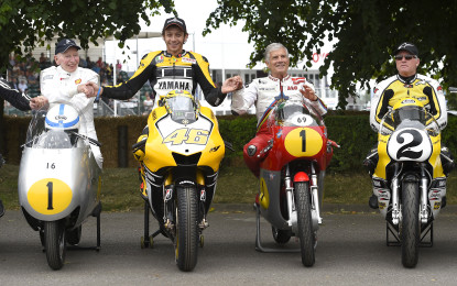 Valentino Rossi debut at Goodwood