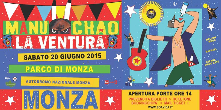 Musica a Monza con Manu Chao