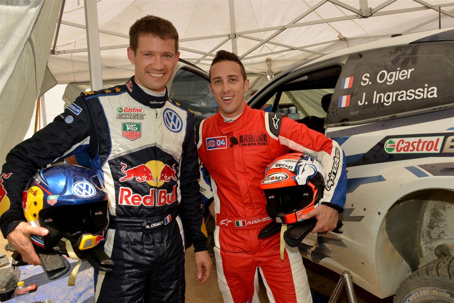 Dovizioso-Ogier: la MotoGP incontra il WRC