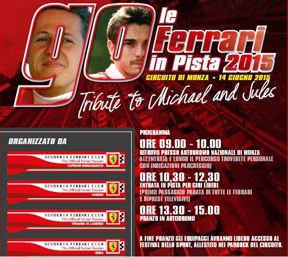 A Monza le Ferrari in pista per Michael e Jules