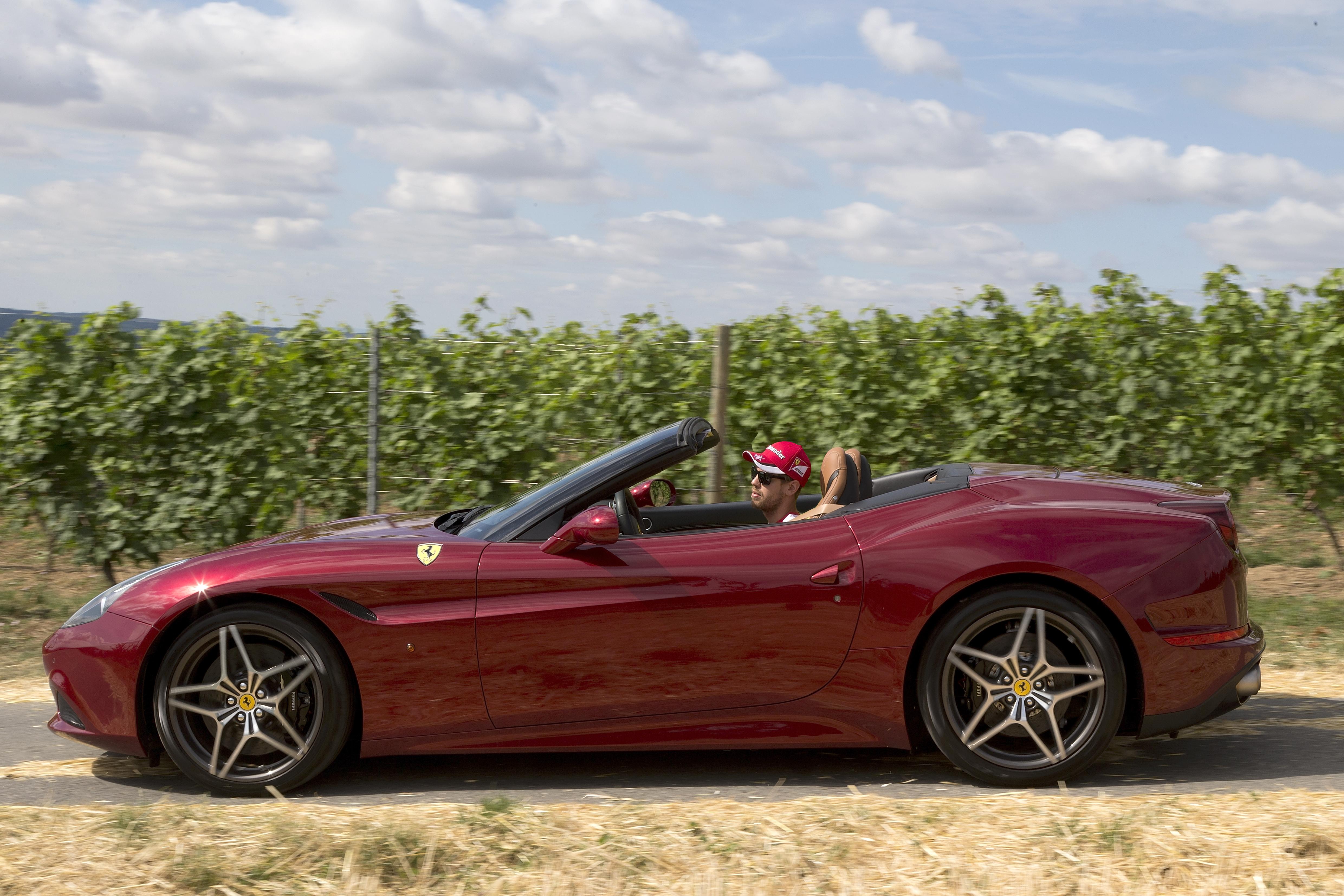 Vettel al volante della California T
