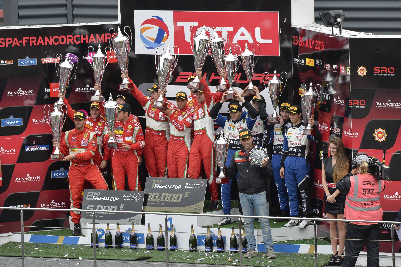24 Ore di Spa: la Ferrari vince gara e Titoli
