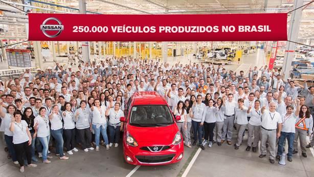 Nissan: 250mila veicoli prodotti in Brasile