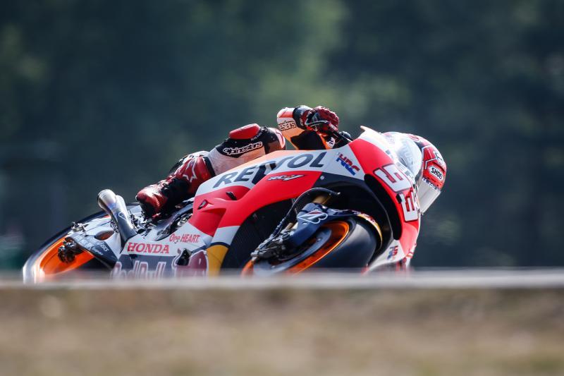 MotoGP: a Brno libere nel segno delle cadute