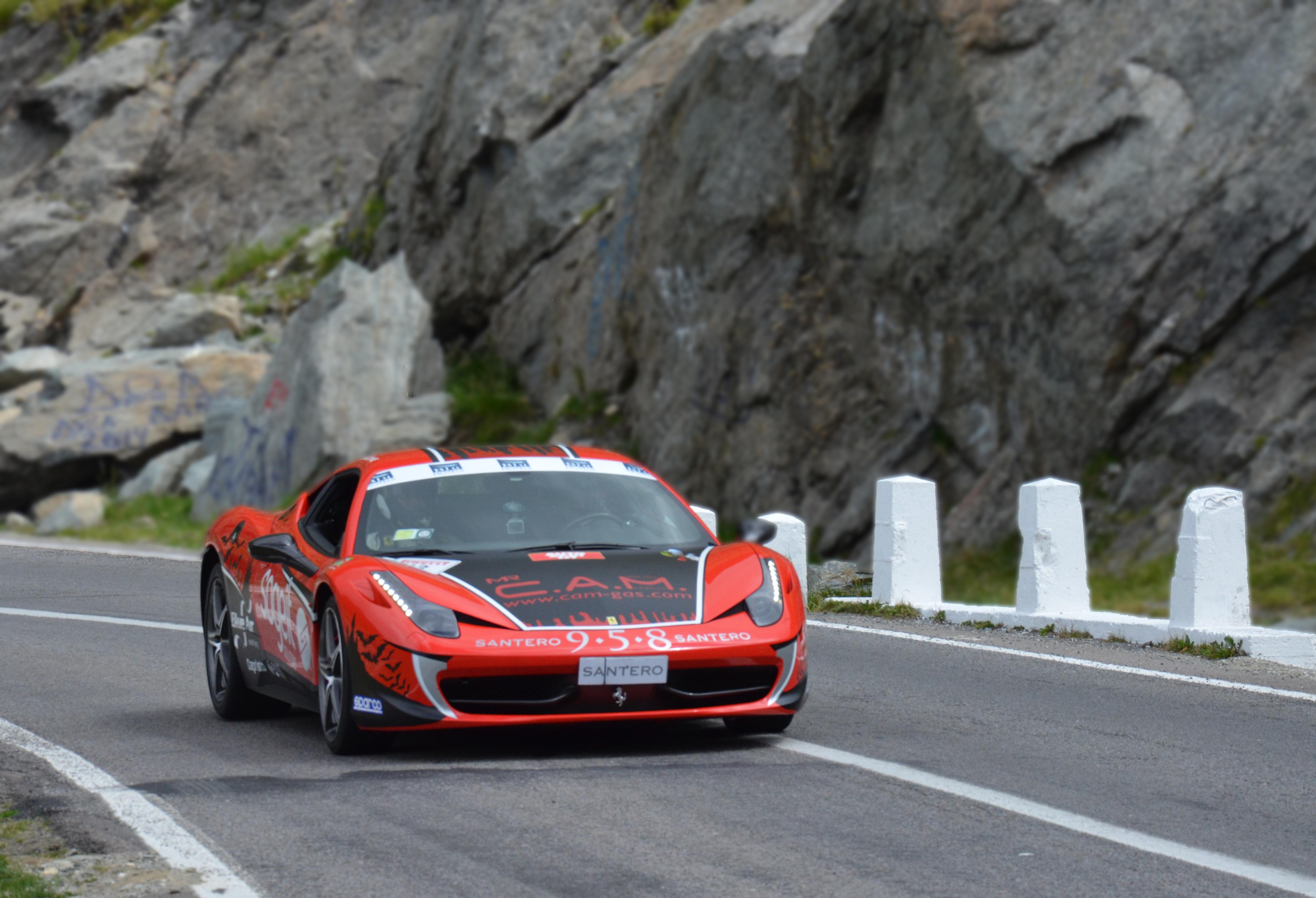 Transfagarasan: è record con la Ferrari