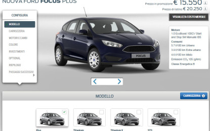 Ford Italia rinnova il sito ford.it
