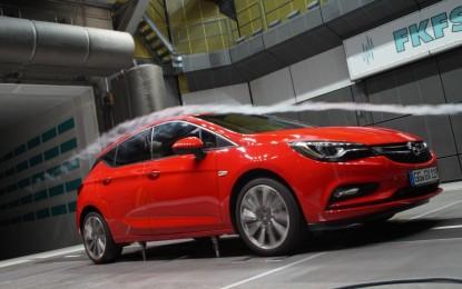 Opel Astra: aerodinamica e massima efficienza