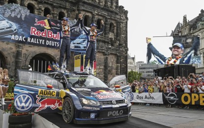 WRC: tripletta VW al Rally di Germania