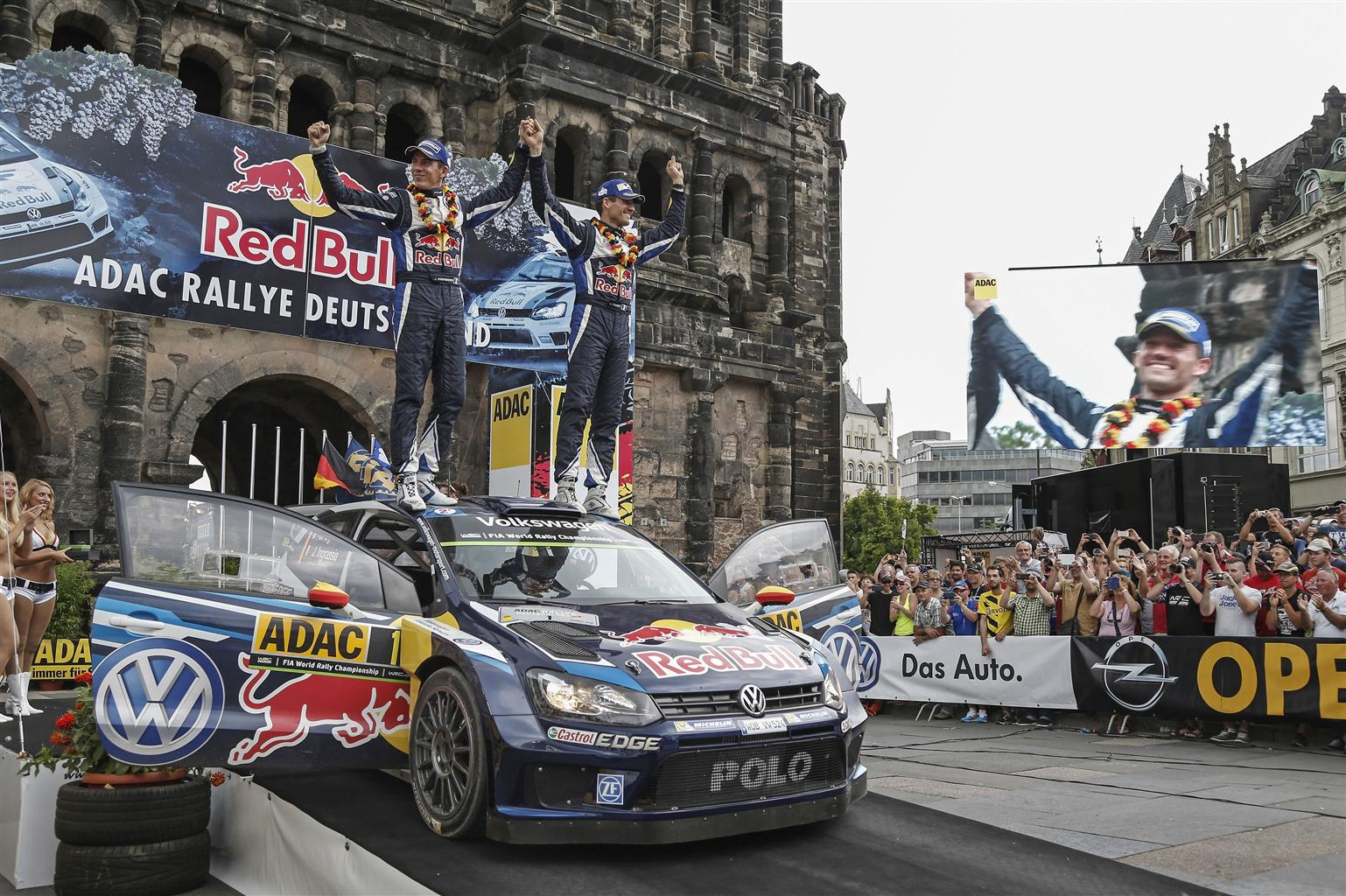 WRC: tripletta VW al Rally di Germania