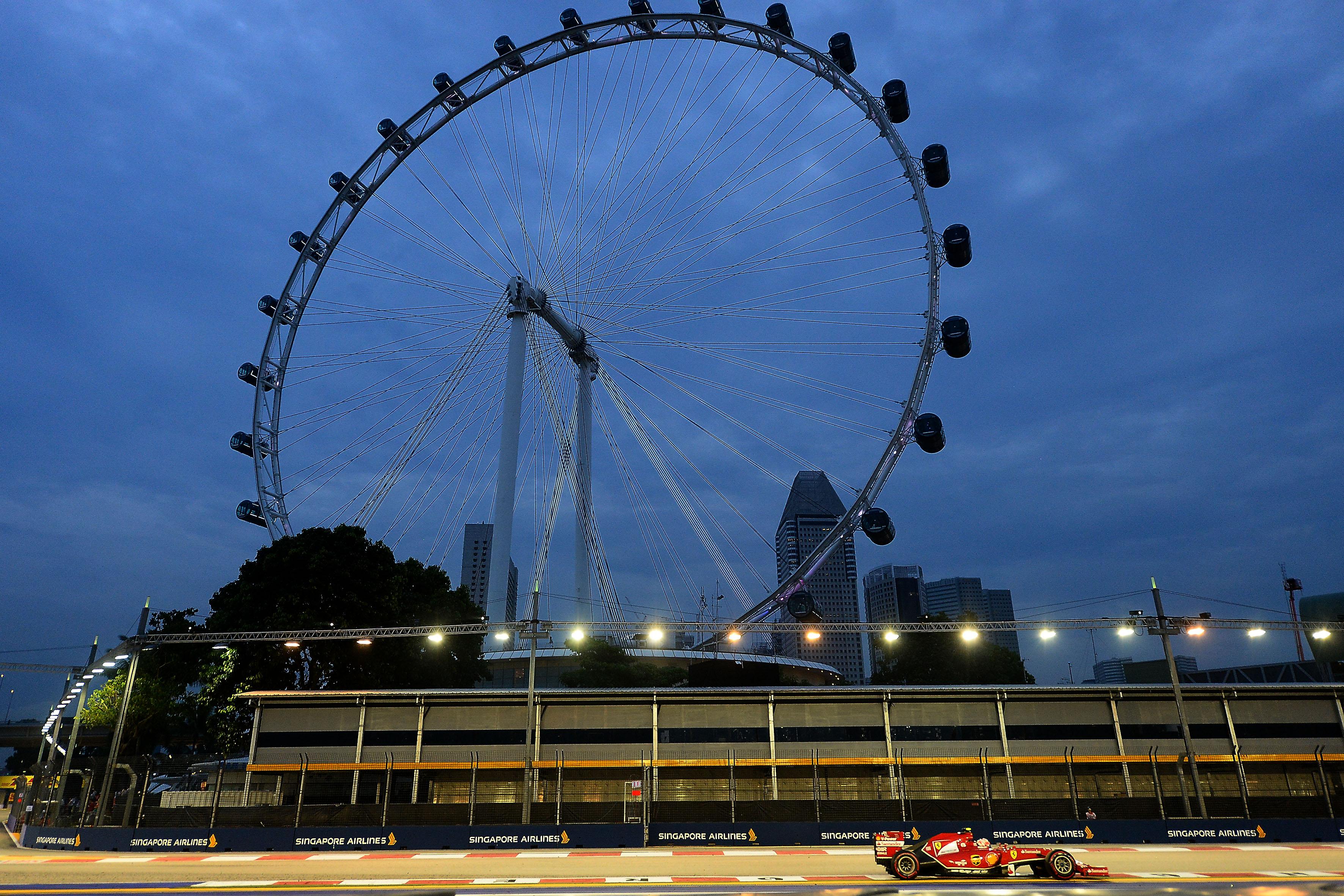 Ferrari e la notte di Singapore