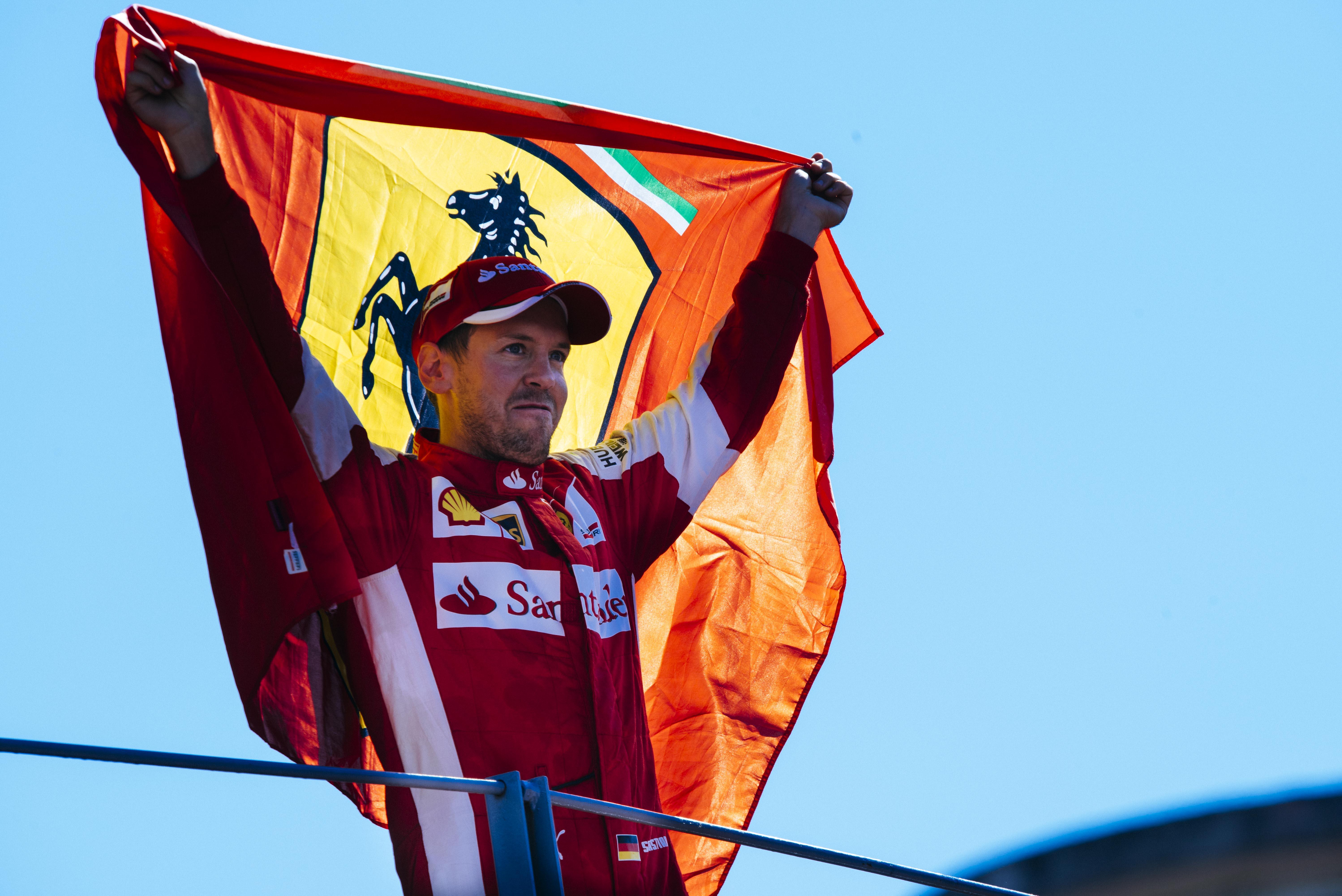 Primo podio in Rosso per Vettel