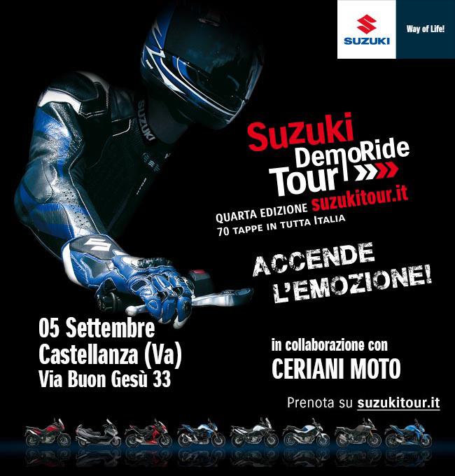 Suzuki DemoRide a Varese e Genova