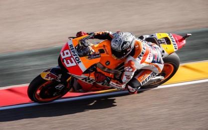 Aragon: Marquez cade ma fa la pole!