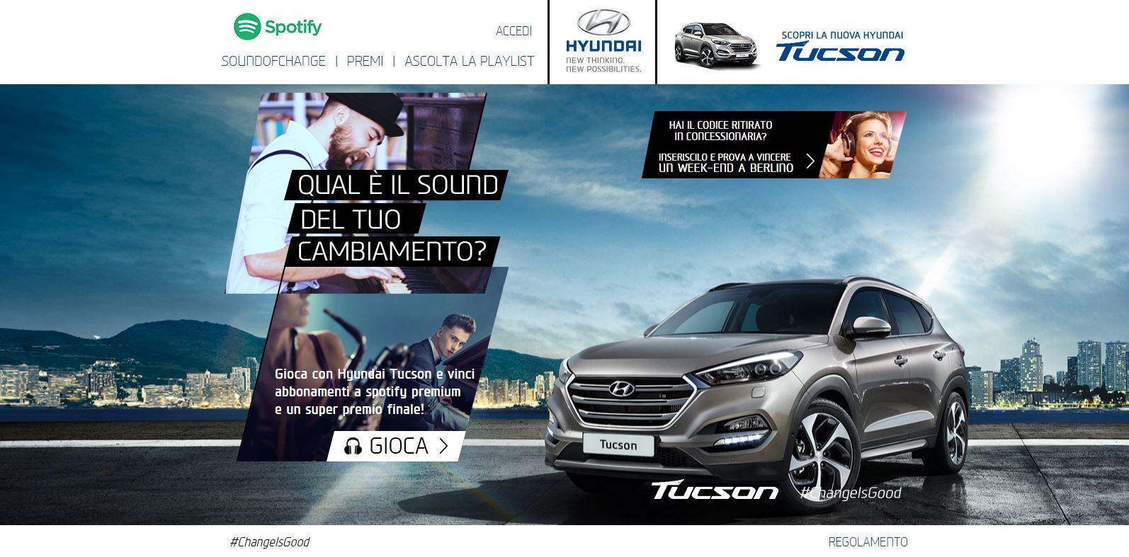 Hyundai Tucson: SoundOfChange